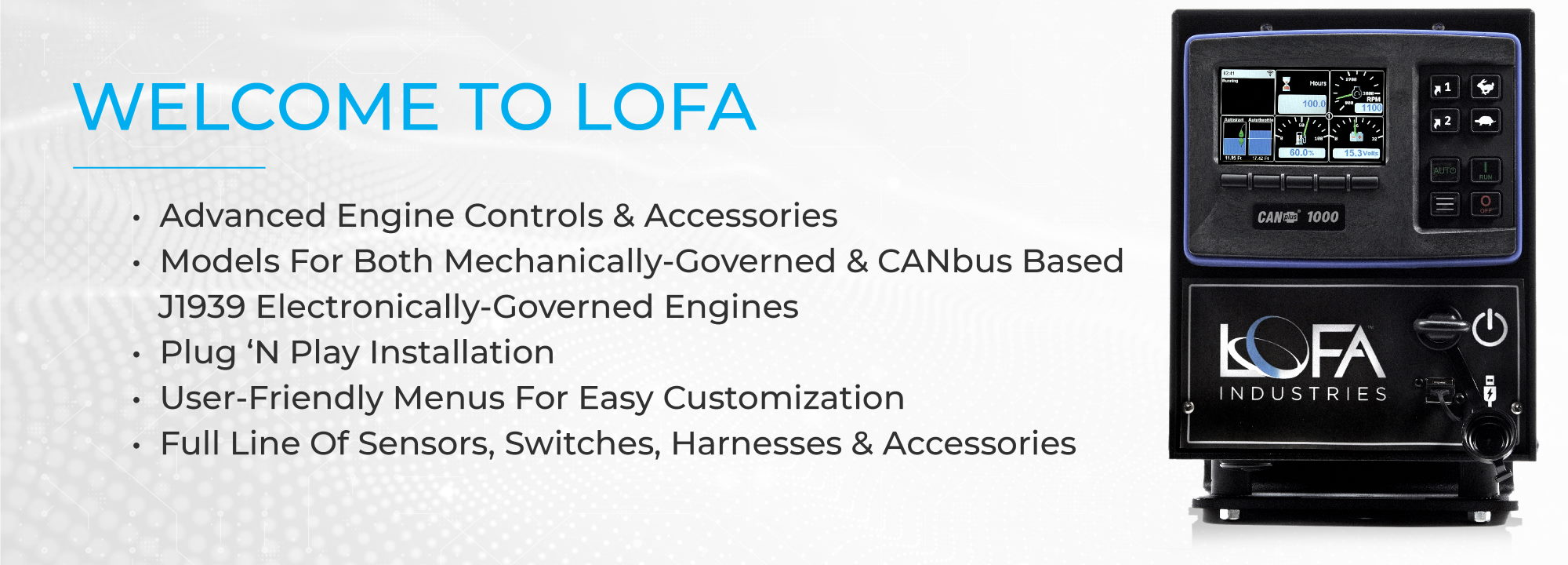 LOFA, advanced engine control panels